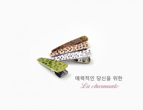 [charmante] 샤몽뜨 레오파트 70 삼각악어집게핀 C065P