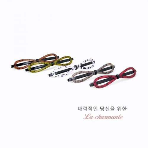 [charmante] 샤몽뜨 레오파트 100 리본 슬림 자동핀 C084P